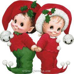 Cute little Christmas elves