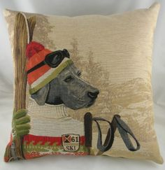 SKI LODGE TAPESTRY CUSHION