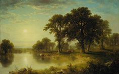 """Asher Brown Durand (American, 1796–1886). """"Summer Afternoon"""" - 1865"""