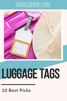 Luggage tags for international travel. Have your suitcases personalized - be it with the use of funny luggage tags or e.g. leather luggage tags. Mark your suitcase with a luggage tag with RFID feature and never lose track of your bag. Includes info on the best luggage tag and 9 other top luggage tag products. #luggagetag #travelgift #review #products #guide #travelgeekery Best Shoes For Travel, Best Travel Gifts, Travel Tips For Europe, Travel Items, Travel Products, Best Luggage, International Travel Tips, Leather Luggage Tags
