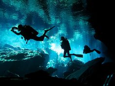 Mexico. The cenote dives.