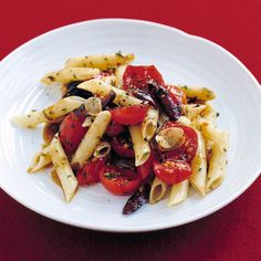 The cherry tomatoes cook just long enough to bring out their juice, which blends with the garlic-flavored olive oil to make one of the best-tasting pasta sauces.