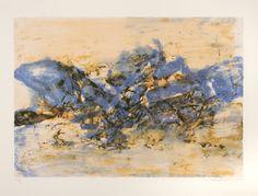Zao Wou-Ki, Lithographie n°390
