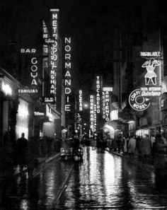 Calle Lavalle, 1940. Buenos Aires