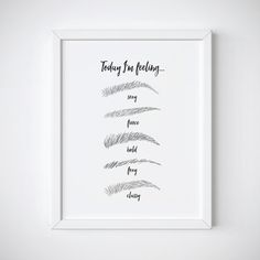 Fashion art Print Makeup Print Eyebrow Print Beauty