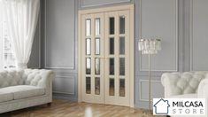 Room Door Design, Door Design Interior, Home Room Design, House Design, Interior Folding Doors, Diy Folding Doors, Bifold Interior Doors, Modern Interior Doors, Kitchen Sliding Doors