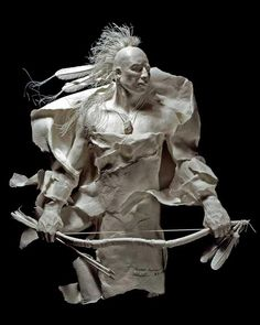 Paper sculpture by husband & wife artists Allen and Patty Eckman