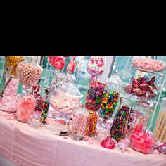 Candy table is going to be amazing! 15th Birthday Party Ideas, 21 Birthday, Hollywood Sweet 16, Planes Party, Little Pony Party, Party Buffet, Sleepover Party, Wedding Candy, Candy Table