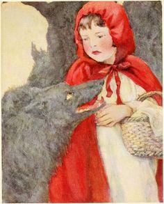 Little Red Riding Hood -- Katharine Pyle -- Fairytale Illustration