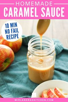 You can make this EASY no fail caramel sauce in 10 minutes! And chances are you have everything you need for it already in the house! So go ahead and drizzle it on apples, dessert, into your coffee and maybe even over your oatmeal! Caramel sauce isn't just for ice cream sundaes! #caramel #sauce #dessert #fromscratch Homemade Caramel Sauce, Caramel Recipes, Breakfast Recipes, Dessert Recipes, Food Fails, Easy Meals, Easy Recipes, Copycat Recipes, Sauce Recipes