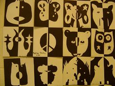 SINKING SPRINGS ART: 5th Grade Positive and Negative Space