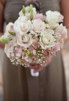 Cathedral of St Phillip Wedding in Atlanta GA  Love this bridesmaid bouquet with roses and hydrangeas.  So sweet!  Atlanta Florist