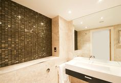 Liberty Bronzite - glass mosaic for bathroom shower