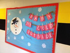My winter bulletin board