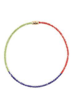 Multi Coloured Bead Tube Collar - Jewelry - Bags & Accessories