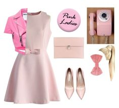 """""""If I was in pink ladies && grease ~no copyright please~"""" by juliet-loves-pugs-26 ❤ liked on Polyvore featuring Chicwish, Moschino, Missoni, Alexander McQueen, women's clothing, women, female, woman, misses and juniors"""