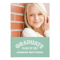 MODERN GRAD | GRADUATION PARTY INVITATION GREEN