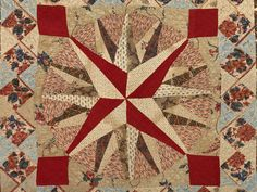 Detail of mariner's compass from quilt c. 1830. Simple, visually powerful design and sophisticated use of color. Victoria and Albert Museum.