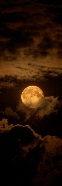 Chocolate Moon ~ Moon and Clouds - Cris Figueired♥ Moon Moon, Blue Moon, Dark Moon, Orange Moon, Moon River, Shoot The Moon, Moon Pictures, Moon Photos, Full Moon Pics