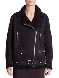 Acne Studios - Shearling Moto Jacket