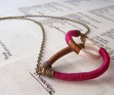 double+OWEN+necklace++textile+leather+antiqued+by+OrangeistheSun,+$38.00