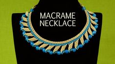 Nefertiti Macrame Necklace Tutorial #Macrame #Necklace #Tutorial