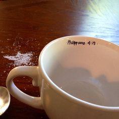 All I need is coffee and Jesus coffee mug. Philippians 4:13