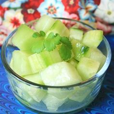 "Honeydew and Cucumber Salad | ""Light crisp and perfect for summer. I used olive oil since that was what I had. Everyone liked it. It's a winner."""