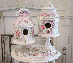Mosaic Birdhouses on Pedastals | Flickr - Photo Sharing!