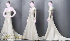 Jesus Peiro , Long Sleeve Wedding Dresses Mermaid Bridal Gown , Ivory SimPle , idea Jacket Bridal
