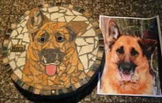 This is such a cool idea. These are handmade, custom stone mosaics (stepping stones for your garden, display art, whatever). Made to look like a photo of your dog. Adorable and unique. Where else but from Etsy :) $145.00. P.S. This board is curated by www.packdog.co -- coming soon for all dog lovers.