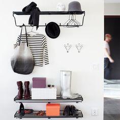 Hat Rack Hattehylde L - Maze @ Ikea Bedroom Storage, Hallway Storage, Hallway Inspiration, Interior Inspiration, Interior Styling, Interior Design, Small Hallways, Entry Hallway, Entryway