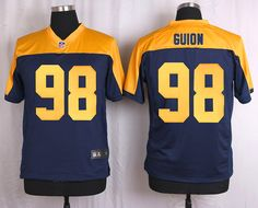 Green Bay Packers #98 Letroy Guion Navy Blue Alternate Men's Stitched NFL New Elite Jersey