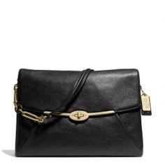 The Madison Shoulder Flap Bag In Leather from Coach
