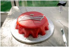 "Budweiser Groom's Cake. ""king of all beers"" millerweddings.com Austin TX wedding photographer"