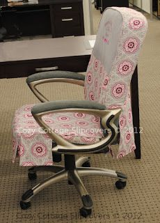 Office Chair Make Over With A Cute Slipcover