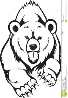 easy bear drawing grizzly drawings animals for attachment - bear face drawing Bear Face Drawing, Grizzly Bear Drawing, Face Line Drawing, Grizzly Bear Tattoos, Stencil Art, Stencils, Bear Stencil, Art D'ours, Animal Tattoos