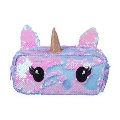 Add a dash of magic to your child's stationery supplies with this cute unicorn-shaped pencil case.