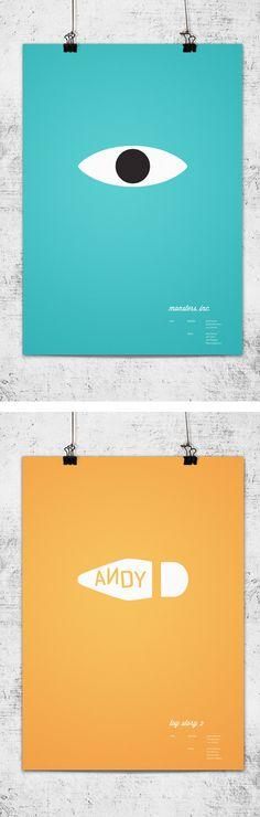 Muito bons esses posters minimalistas dos filmes da Pixar criados pelo australianoWonchan Lee.        Via...