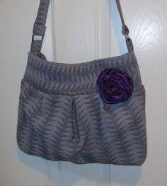 Purse Tote bag Lavender & purple geometric design  by jewellgem, $43.00