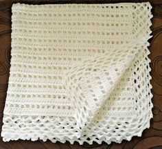 Post - Handmad crocheted Christening/Baptism/Baby Shower/Newborn Gift baby girl blanket with white bows I only use quality yarn which feels very soft Baby Afghan Crochet, Baby Afghans, Baby Girl Blankets, Crochet Blanket Patterns, Baby Knitting Patterns, Baby Patterns, Toddler Blanket, White Bows, Knitted Blankets