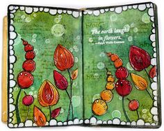 Clips-n-Cuts | Art journal layout – Flowers | http://www.clips-n-cuts.com