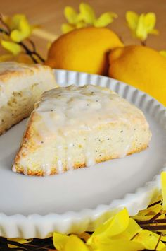 Barefoot and Baking: Lemon Poppy Seed Scones. So delicious and lemony fresh. Great Summer time brunch/breakfast recipe. Easy to make, no mixer needed..