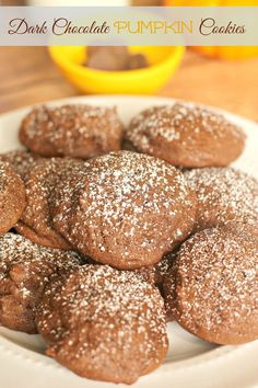 Dark Chocolate Pumpkin Cookies