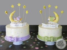 Gender Reveal Cake for Twins! - Cake by Sweet Delights Cakery