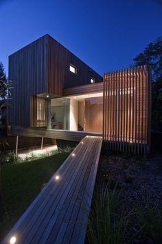 timber cladding Like the walkway