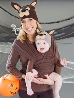 Mama and Baby Kangaroo Halloween Costume