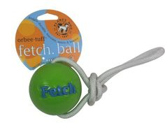 TUFF FETCH BALL WITH ROPE - Made By Planet Dog