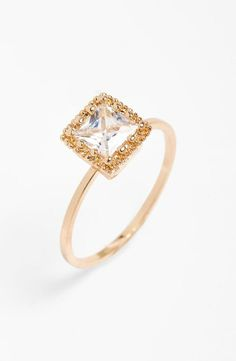 So elegant and under $10! Crushing on this sparkly square stone ring.