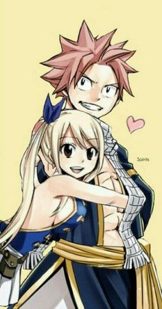Fairy Tail Nalu (Natsu and Lucy) Fairy Tail Nalu, Fairy Tail Ships, Art Fairy Tail, Fairy Tail Amour, Fairy Tail Quotes, Fairy Tail Natsu And Lucy, Fairy Tail Guild, Fairy Tales, Jellal